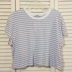 Splendid striped cropped tshirt